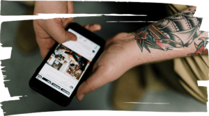 SEA Marketing Tattoo Hand